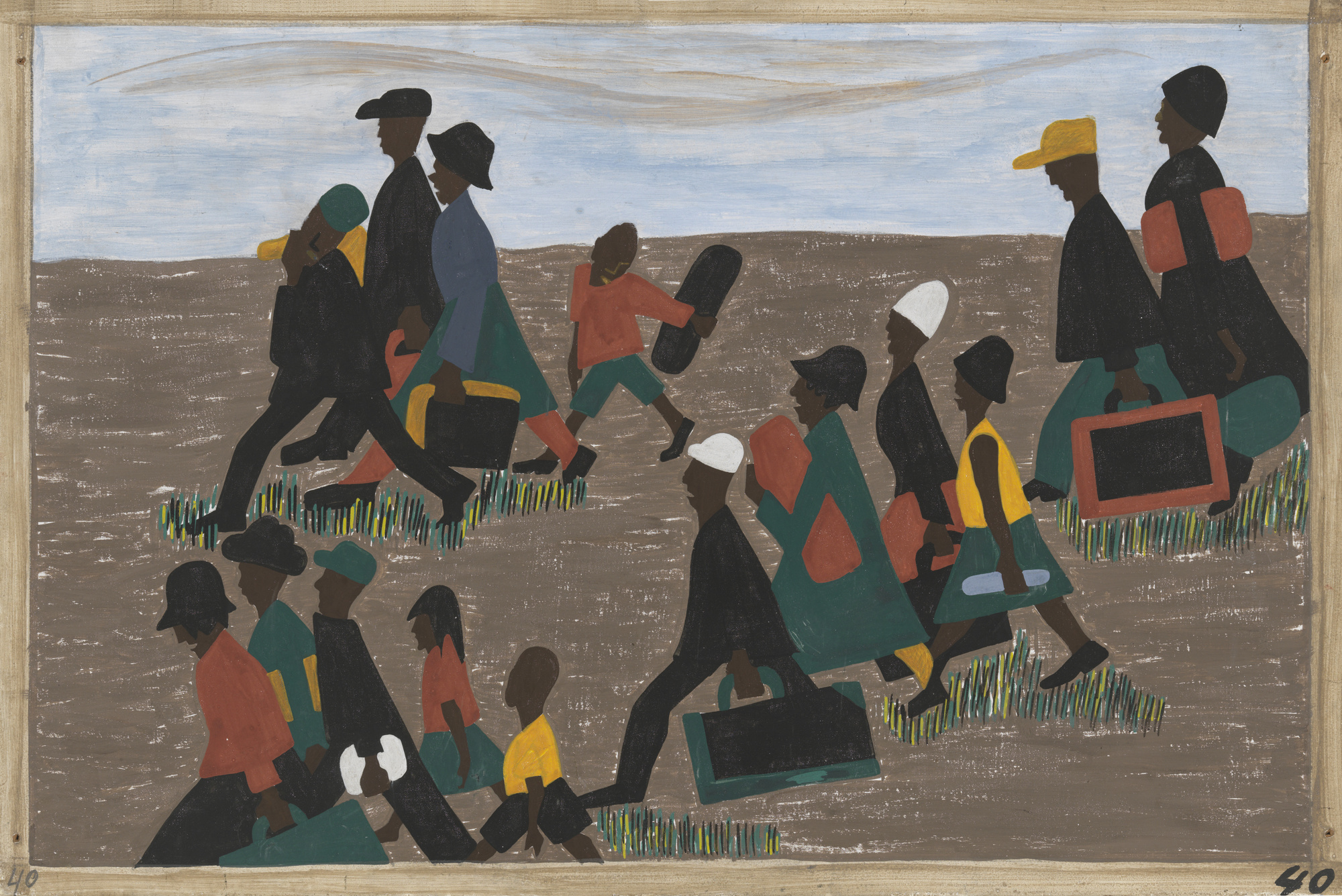 Jacob Lawrence /The Migration Series (1940–41)